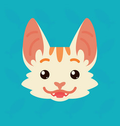 cat emotional head of cute vector image