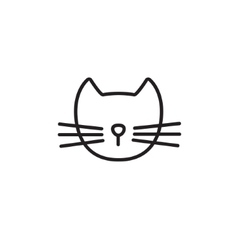 Cat line icon vector