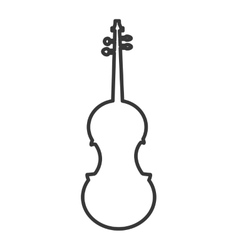 Cello instrument music melody icon graphic vector