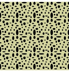 Circle and oval seamless pattern vector