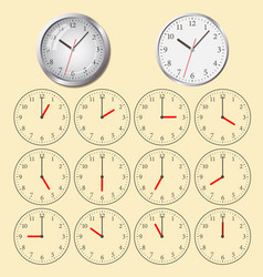 Clock flat icon world time concept vector