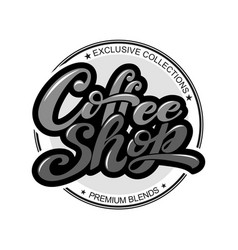 coffee shop logo vector image