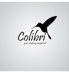 Colibri background with text vector