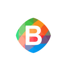 colorful initial b icon vector image