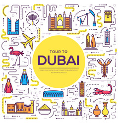 Country dubai travel vacation guide of goods vector