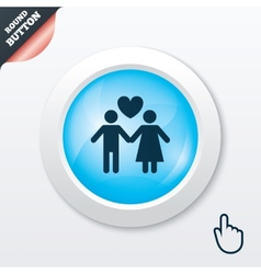 Couple sign icon Male love female Lovers vector image