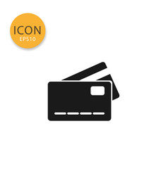 credit card icon isolated flat style vector image