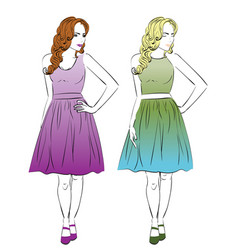 dress for pear body type vector image