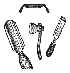 Edge tools vintage vector