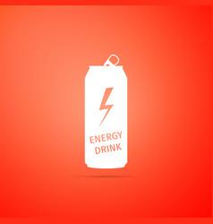 energy drink icon isolated on orange background vector image