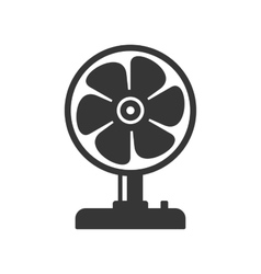 Fan Icon on White Background vector image