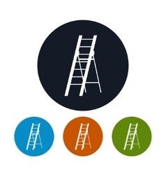 Four Types of Round Icons Ladder vector