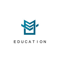 geometry education logo vector image