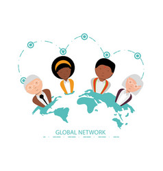 global network design concept vector image