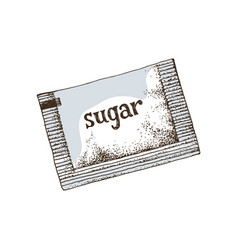 hand drawn sugar sachet vector image