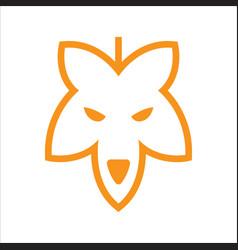 Hemp wolf head logo icon vector