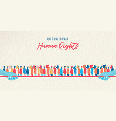 human rights awareness month united people vector image