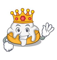 King cinnamon roll mascot cartoon vector