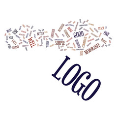 Logo facts text background word cloud concept vector