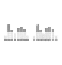 music equalizer icon grey set vector image