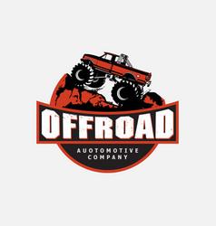 Off-road car logo with emblem design offroading vector