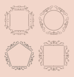 ornaments and frames vintage elements vector image