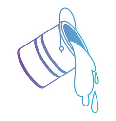 Paint bucket spilling in degraded purple to blue vector
