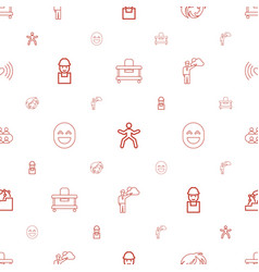 Person icons pattern seamless white background vector