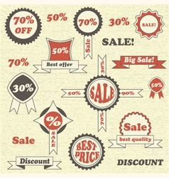 Sale emblems labels and tags vector