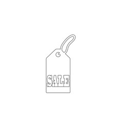 Sale price tag flat icon vector