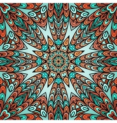 Seamless pattern with colorful circle ornament vector