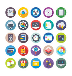 Seo and digital marketing icons 4 vector