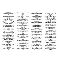 Set 50 doodle sketch drawing divider wedding vector