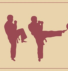 set of images of the man of engaged karate vector image