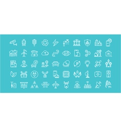 Smart City Line Icons 6 3 vector image