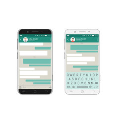Smartphone bubbles app vector