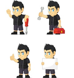 Spiky Rocker Boy Customizable Mascot 9 vector