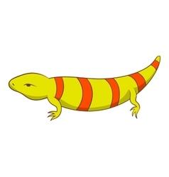 Stripped lizard icon cartoon style vector