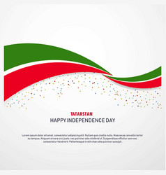 Tatarstan happy independence day background vector
