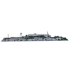The Alcatraz Island vector