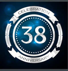 thirty eight years anniversary celebration with vector image