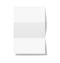 three times folded paper sheet isolated on white vector image