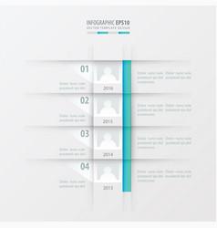 timeline report design template blue gradient vector image