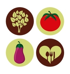 Vegetarian menu healthy food vector