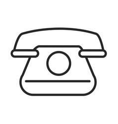 vintage telephone communicate conversation line vector image