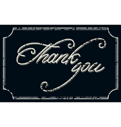 Vintage Thank You Card vector image