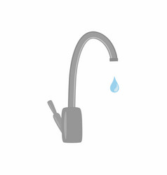 water tap with drop save vector image