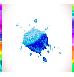 watercolor splash background set vector image