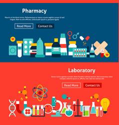 website pharmacy banners vector image