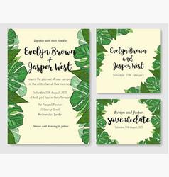 Wedding invite invitation rsvp thank you card vector